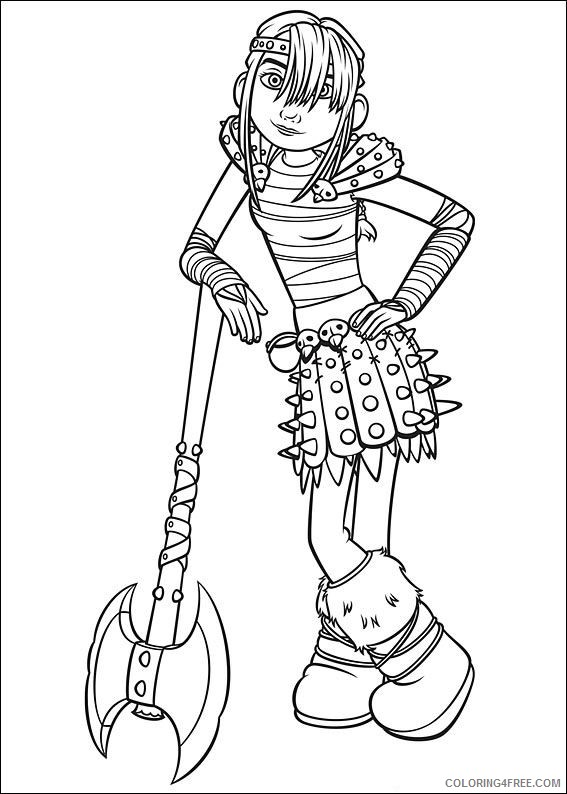how to train your dragon coloring pages astrid hofferson Coloring4free