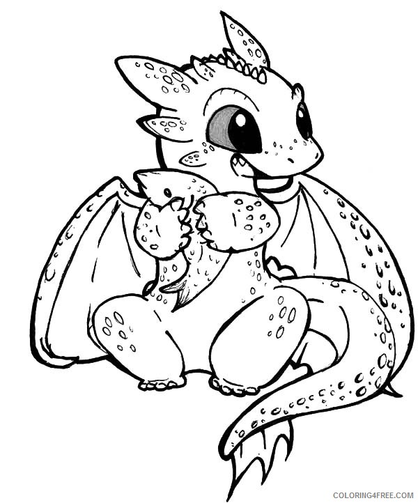 how to train your dragon coloring pages cute toothless Coloring4free