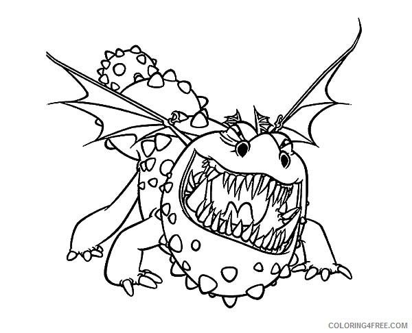 how to train your dragon coloring pages gronckle Coloring4free