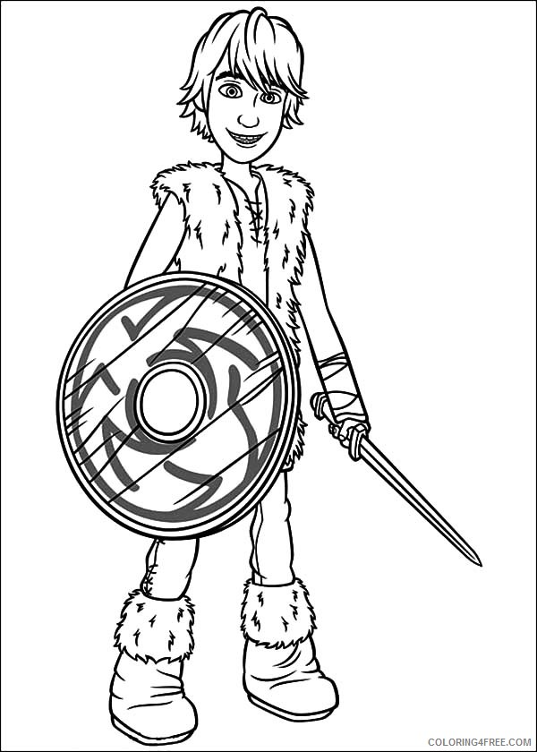 how to train your dragon coloring pages hiccup Coloring4free