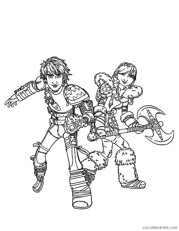 how to train your dragon coloring pages hiccup and astrid Coloring4free
