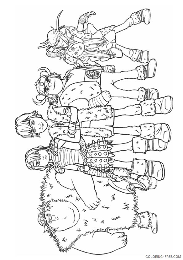 how to train your dragon coloring pages hiccup and friends Coloring4free