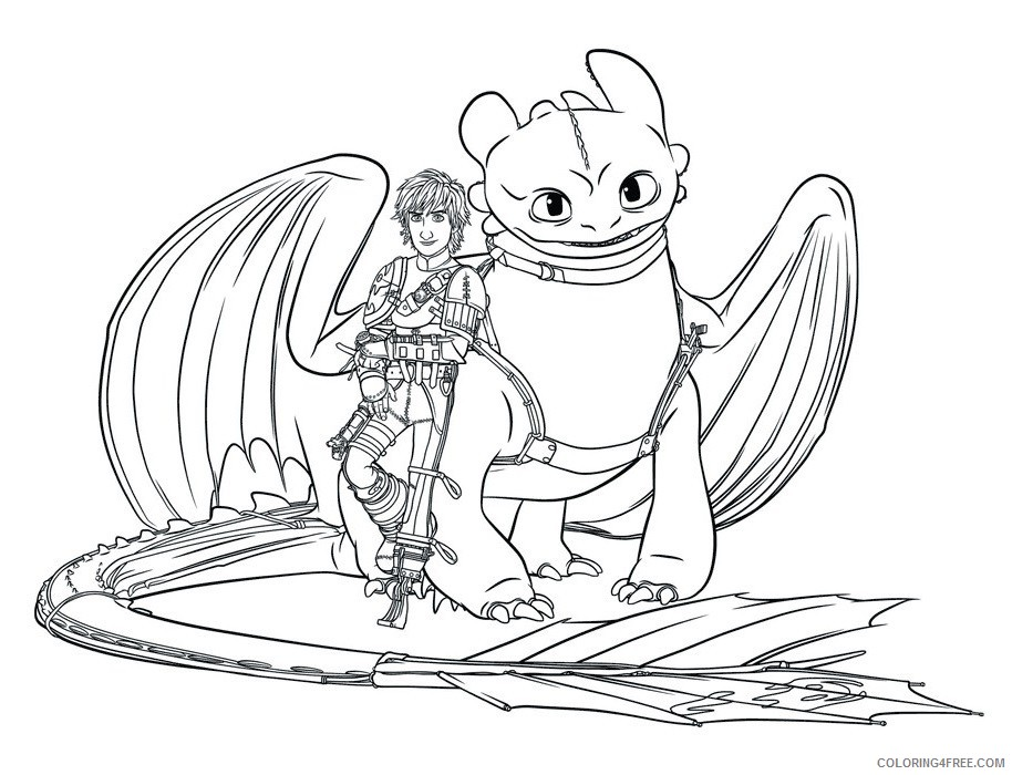 how to train your dragon coloring pages hiccup and toothless Coloring4free