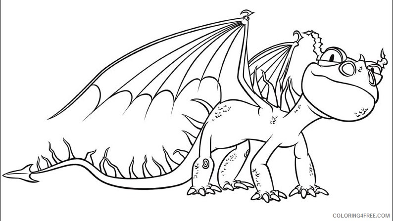 how to train your dragon coloring pages nadder Coloring4free