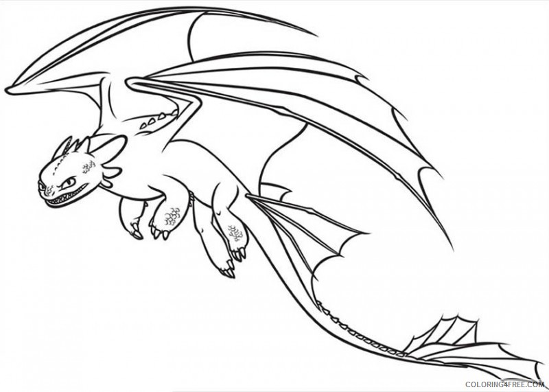 how to train your dragon coloring pages night fury Coloring4free