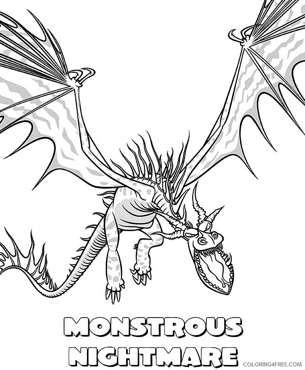how to train your dragon coloring pages nightmare Coloring4free