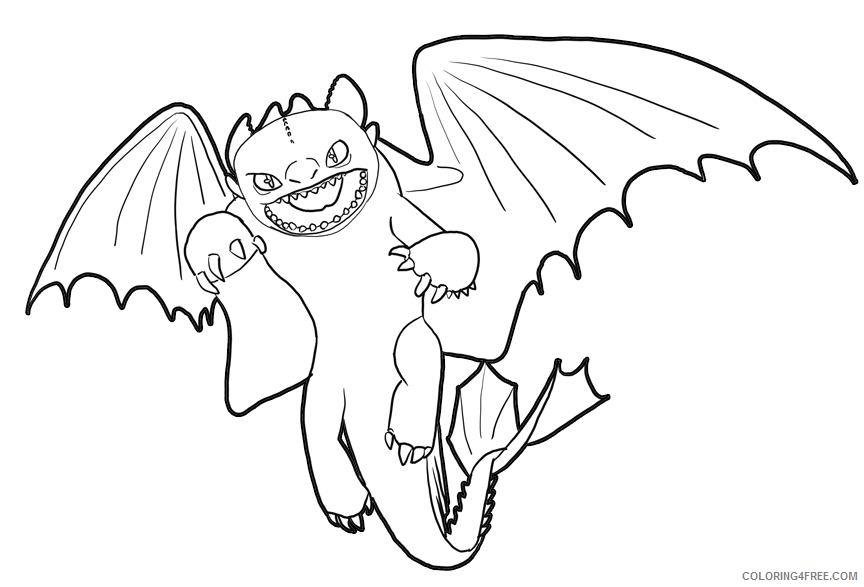 how to train your dragon coloring pages toothless Coloring4free
