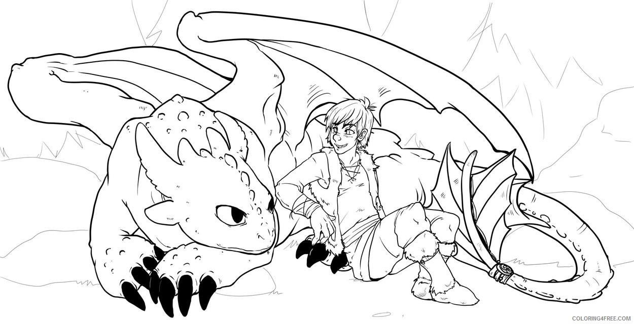 how to train your dragon coloring pages toothless and hiccup Coloring4free