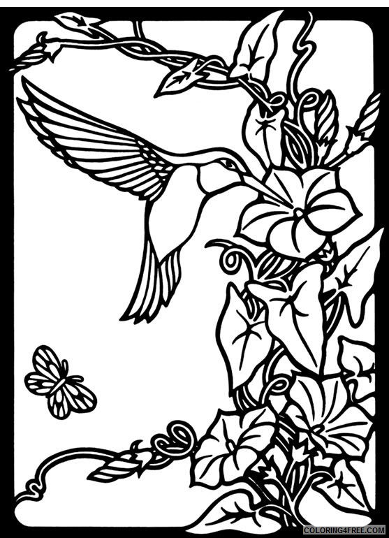 hummingbird coloring pages free to print Coloring4free