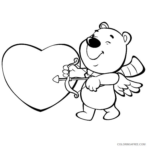 i love you coloring pages cupid arrow Coloring4free