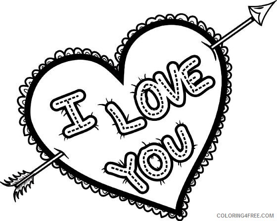i love you coloring pages love arrow Coloring4free
