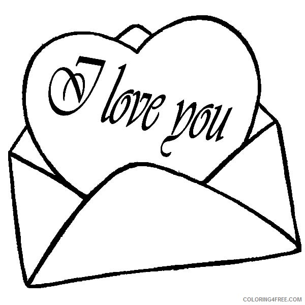 i love you coloring pages love letter Coloring4free