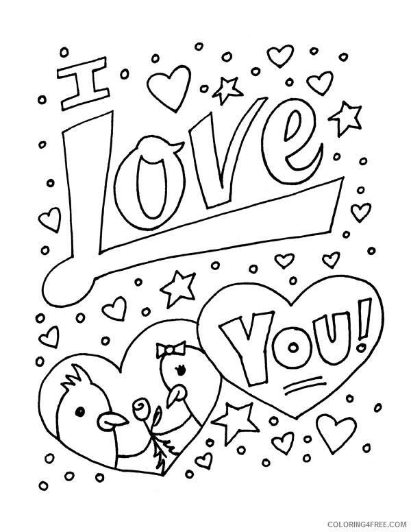 i love you coloring pages with stars Coloring4free