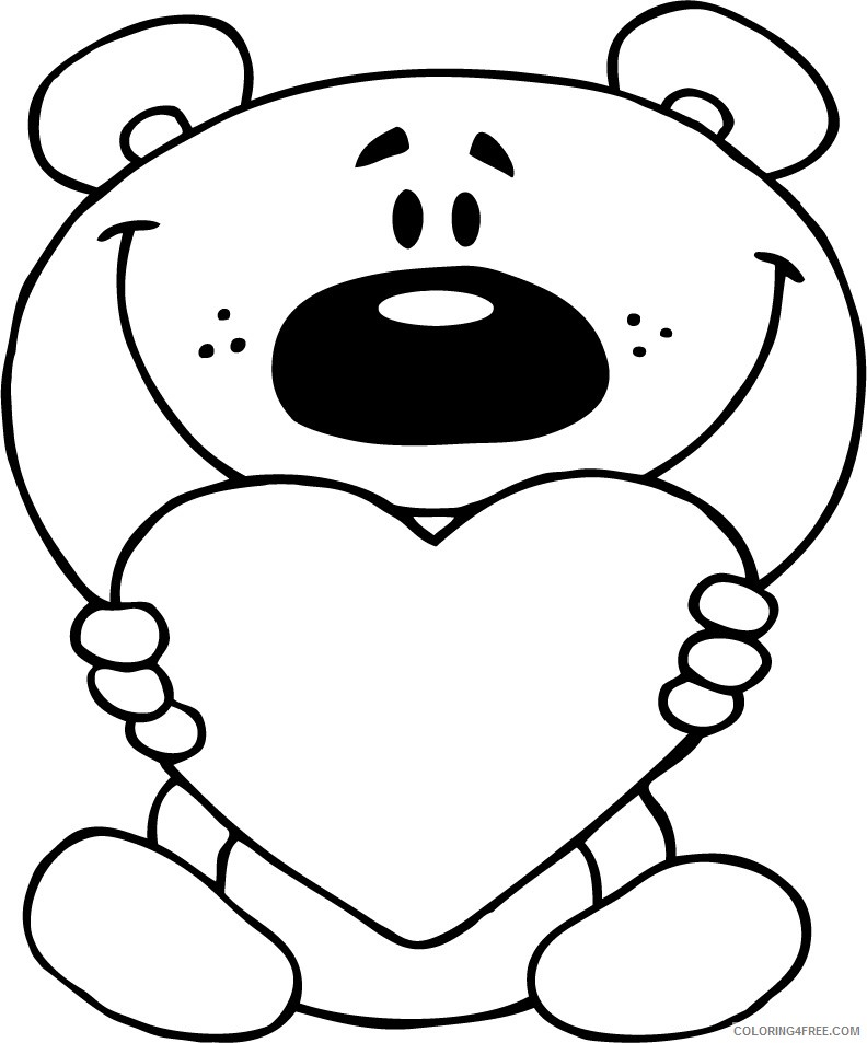 i love you coloring pages with teddy bear Coloring4free