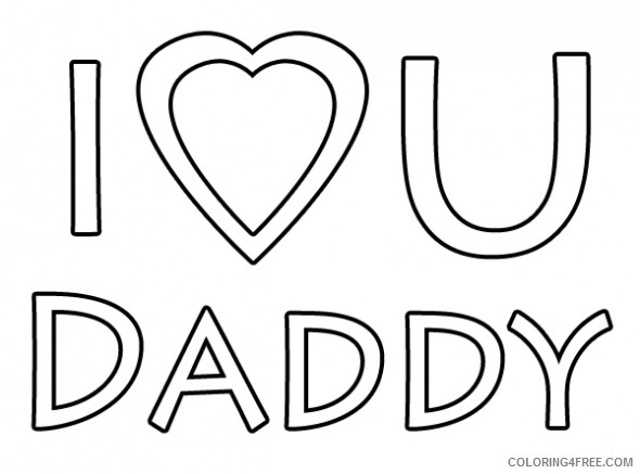 i love you daddy coloring pages Coloring4free