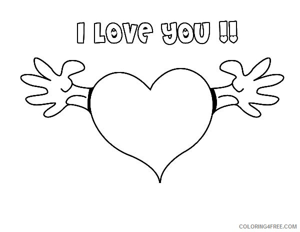 i love you heart coloring pages Coloring4free