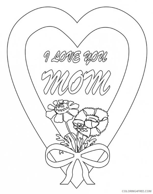i love you mom coloring pages Coloring4free