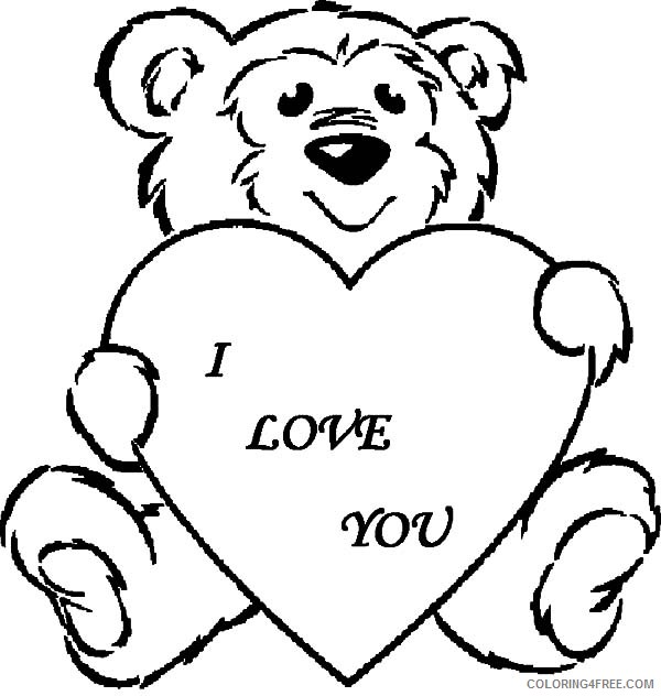 i love you teddy bear coloring pages Coloring4free