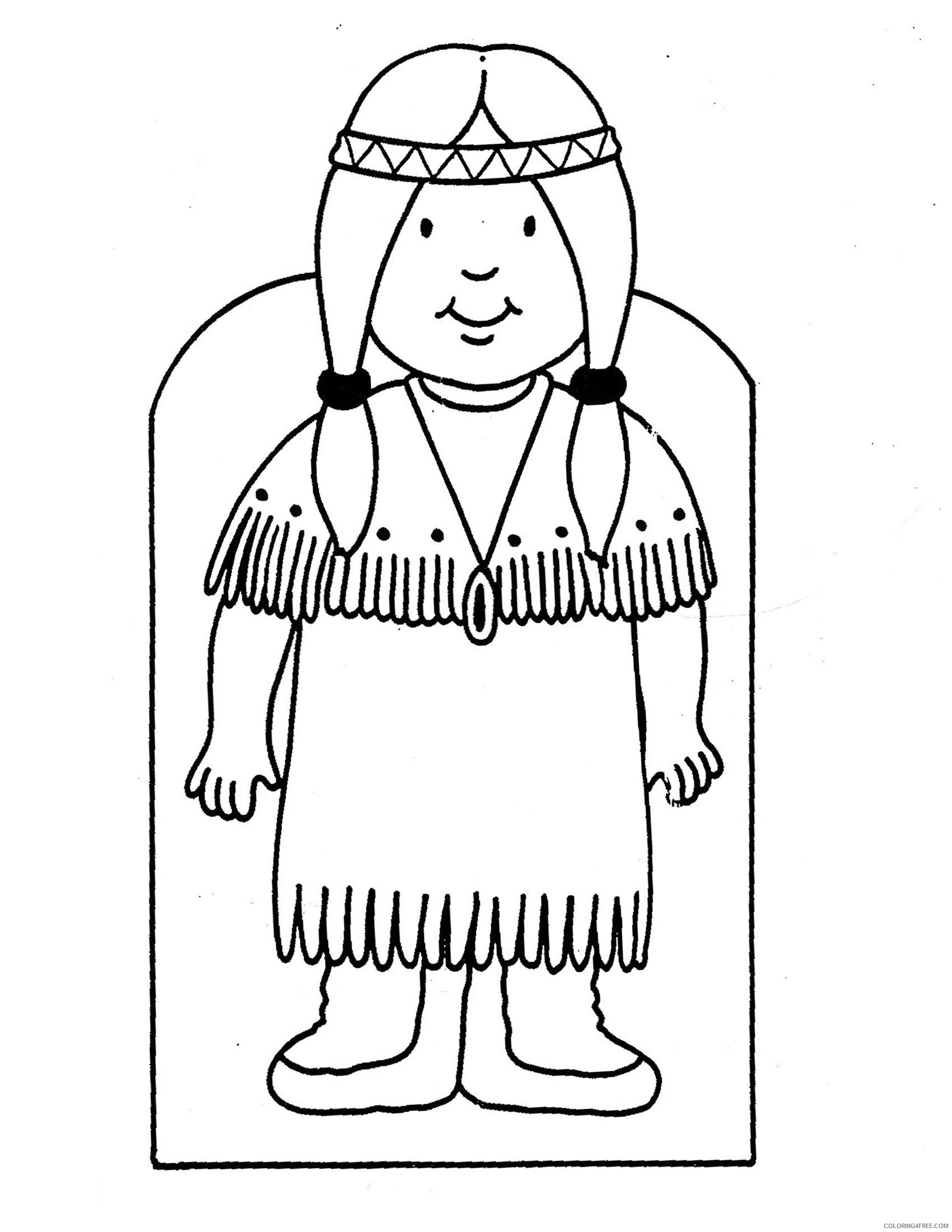 indian coloring pages for preschooler Coloring4free