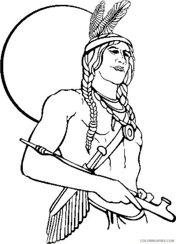 indian coloring pages to print Coloring4free