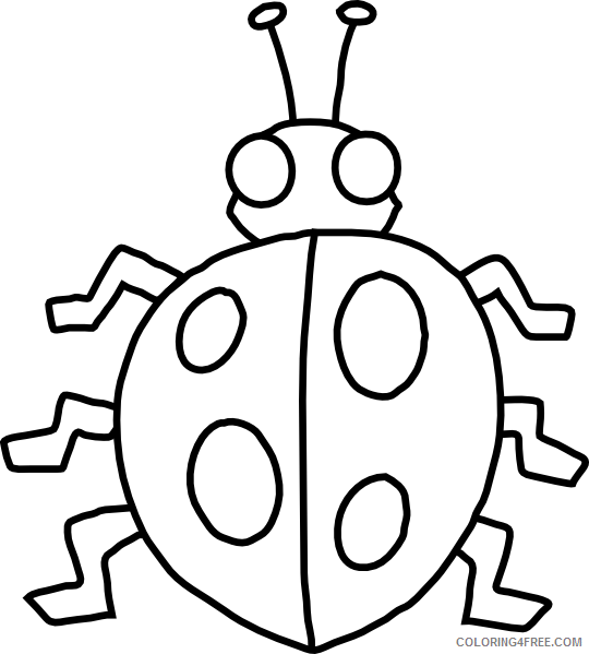 insect coloring pages cute ladybug Coloring4free