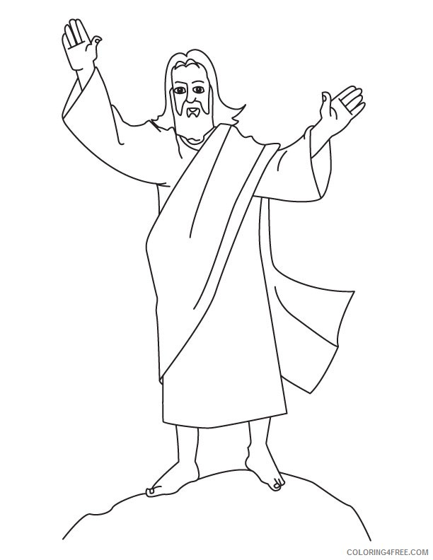 jesus coloring pages for preschooler Coloring4free