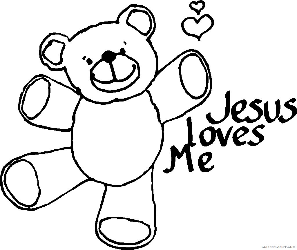 jesus coloring pages he loves me Coloring4free