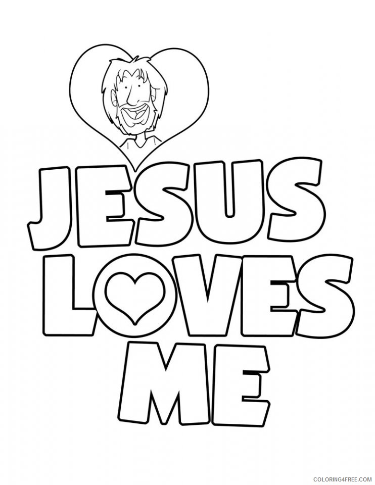 jesus coloring pages jesus loves me Coloring4free