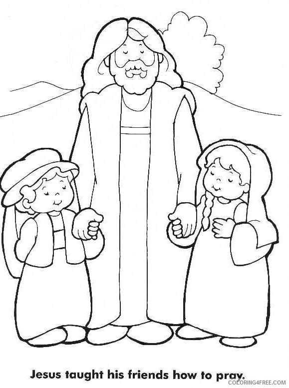jesus coloring pages praying Coloring4free