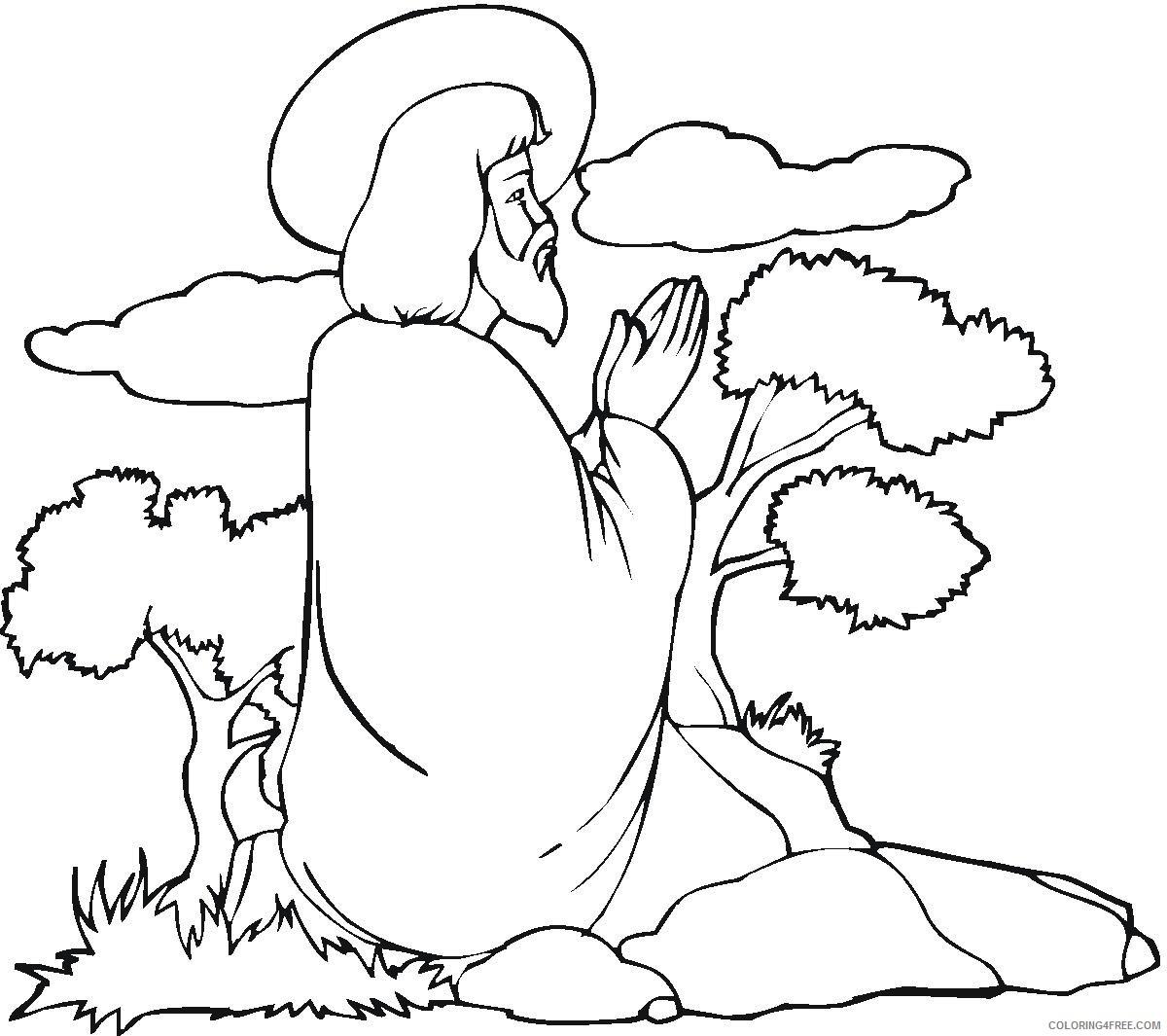 jesus coloring pages praying to god Coloring4free