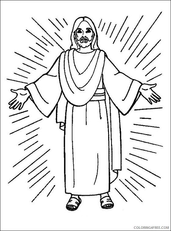 jesus coloring pages printable Coloring4free