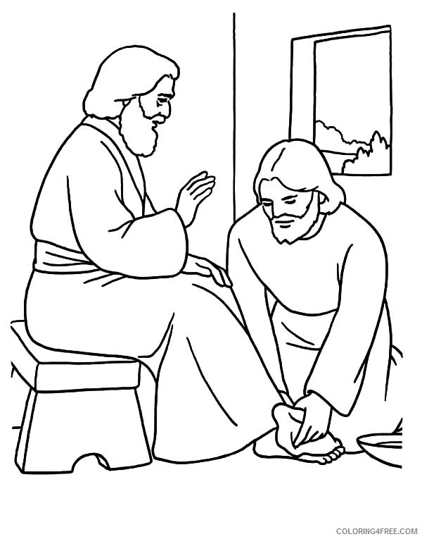 jesus coloring pages printable free Coloring4free