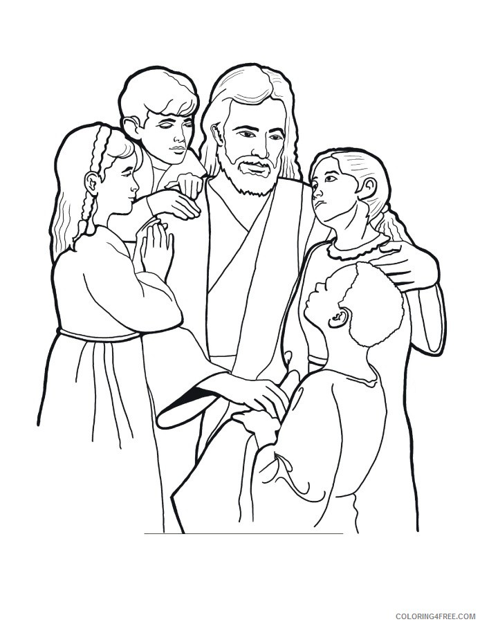 jesus coloring pages to print Coloring4free