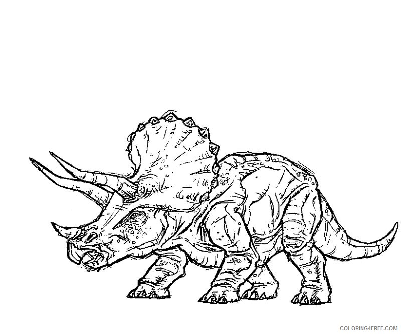 jurassic park triceratops coloring pages Coloring4free