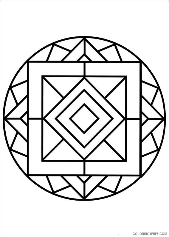 kaleidoscope coloring pages easy Coloring4free