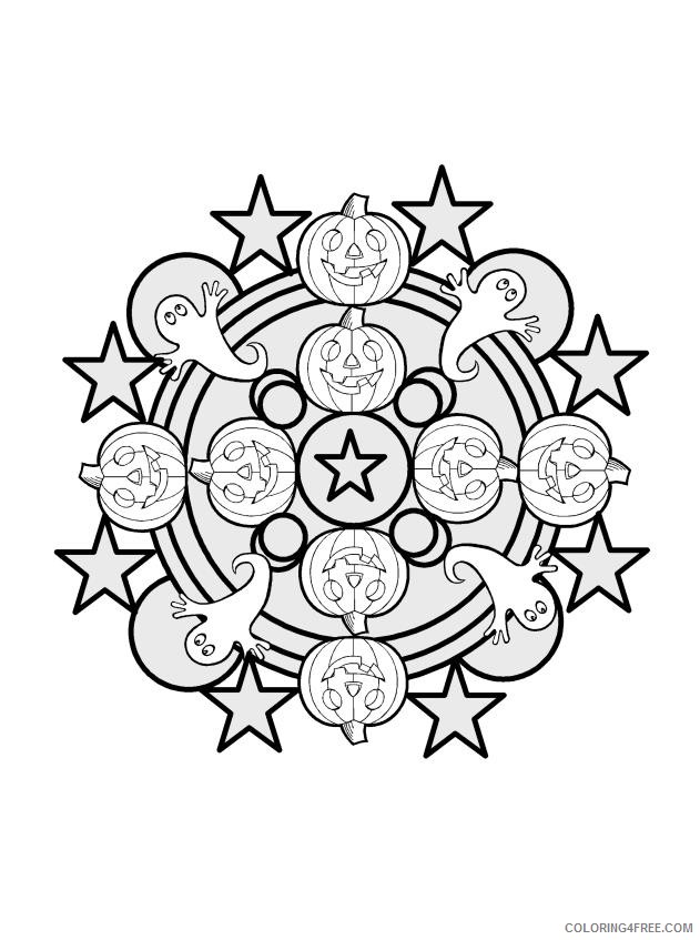 kaleidoscope coloring pages halloween Coloring4free