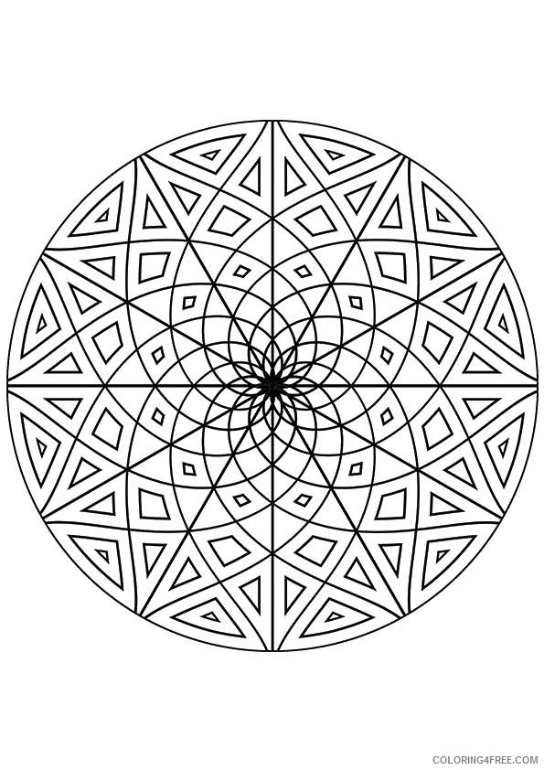 kaleidoscope coloring pages printable Coloring4free