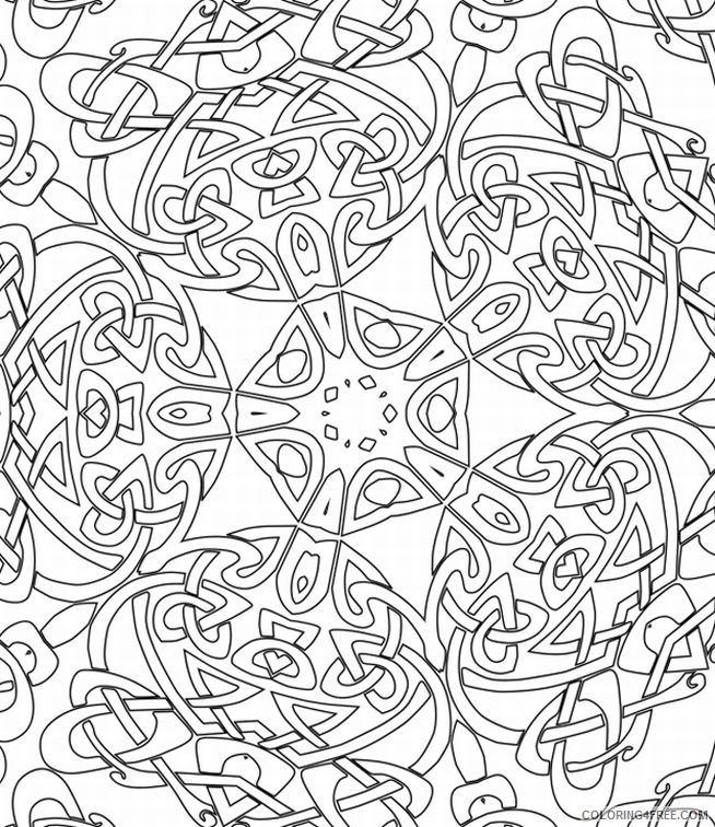 kaleidoscope coloring pages square Coloring4free