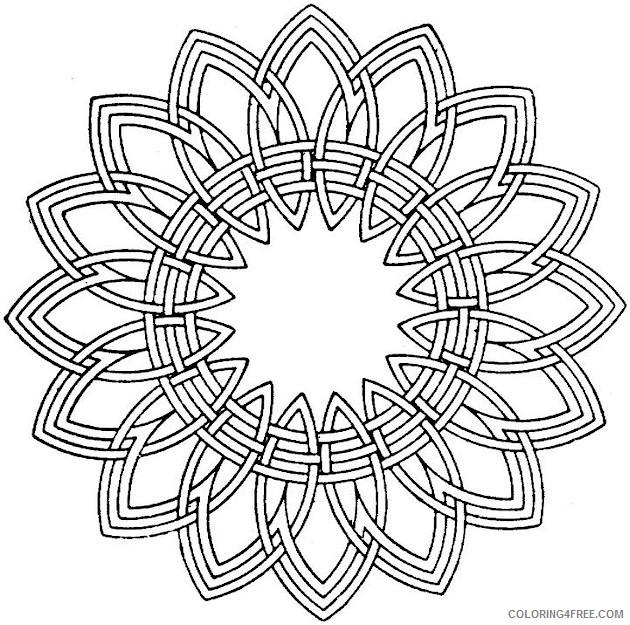 kaleidoscope coloring pages to print Coloring4free
