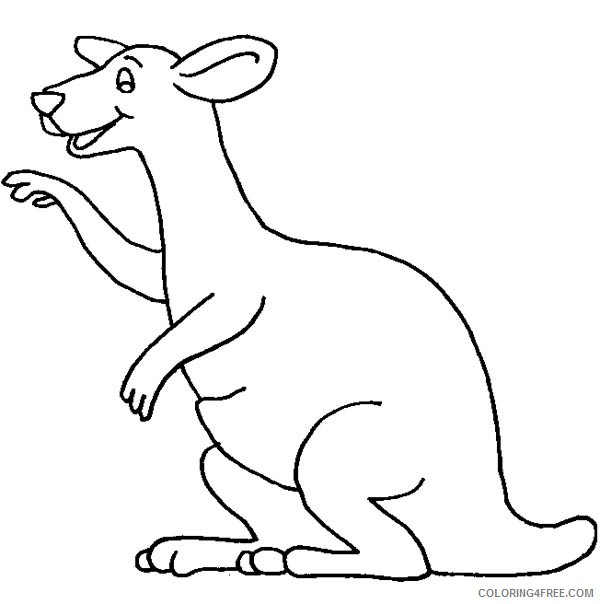 kangaroo coloring pages for toddler Coloring4free