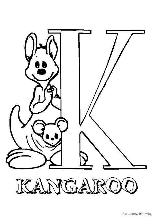 kangaroo coloring pages free to print Coloring4free