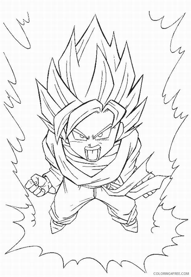 kid goku coloring pages super saiyan to print Coloring4free