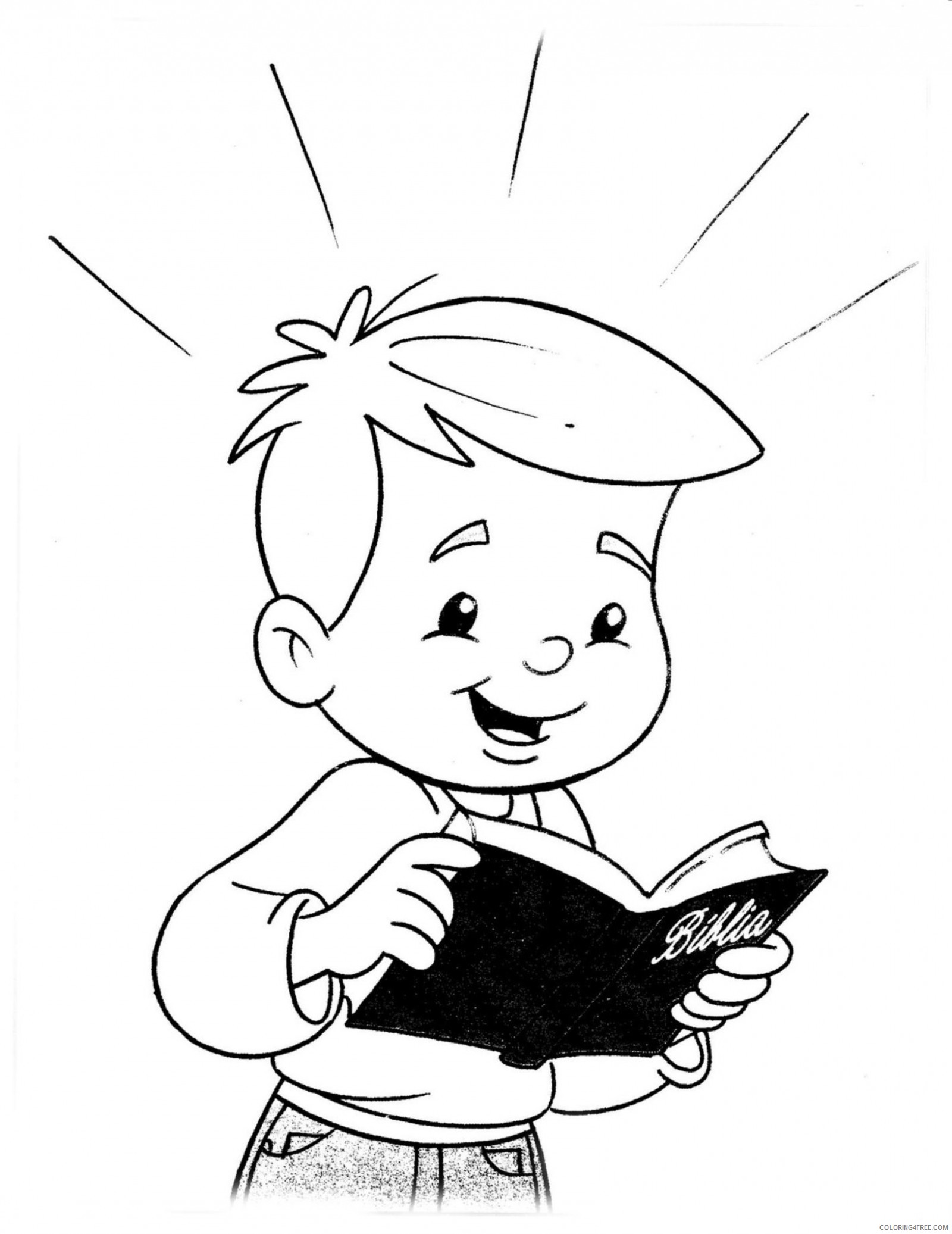 kid reading bible coloring pages Coloring4free