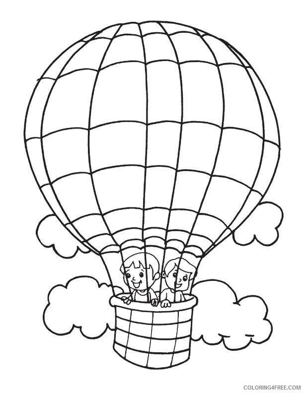 kids in hot air balloon coloring pages Coloring4free