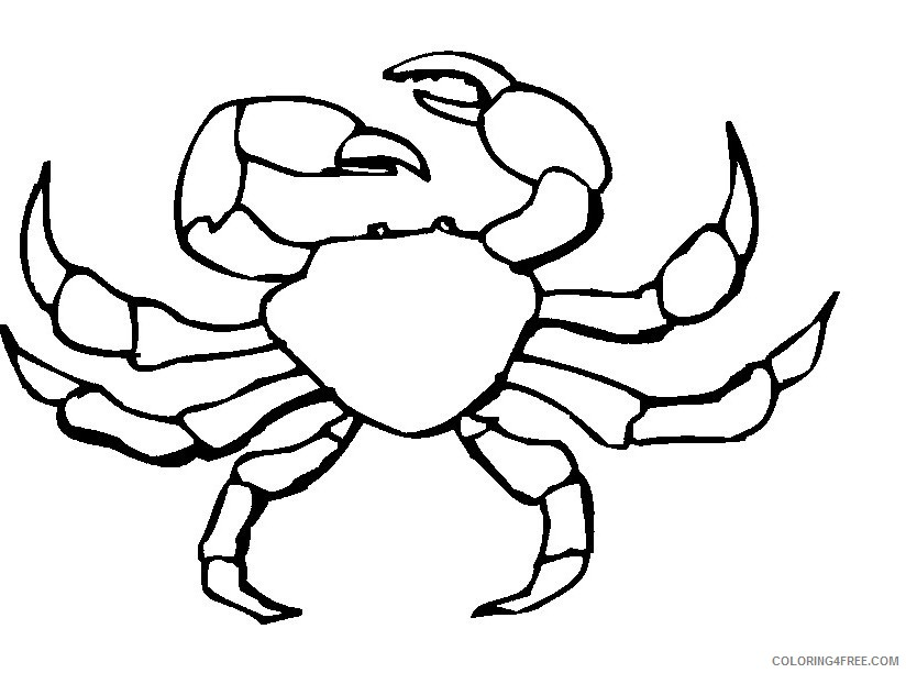 king crab coloring pages Coloring4free