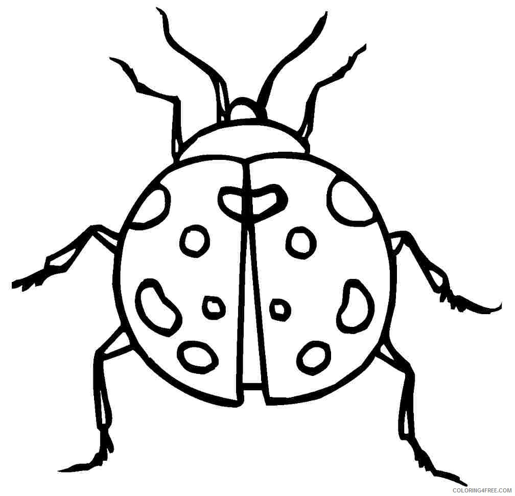 ladybug coloring pages free to print Coloring4free