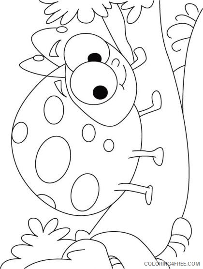 ladybug coloring pages smiling Coloring4free
