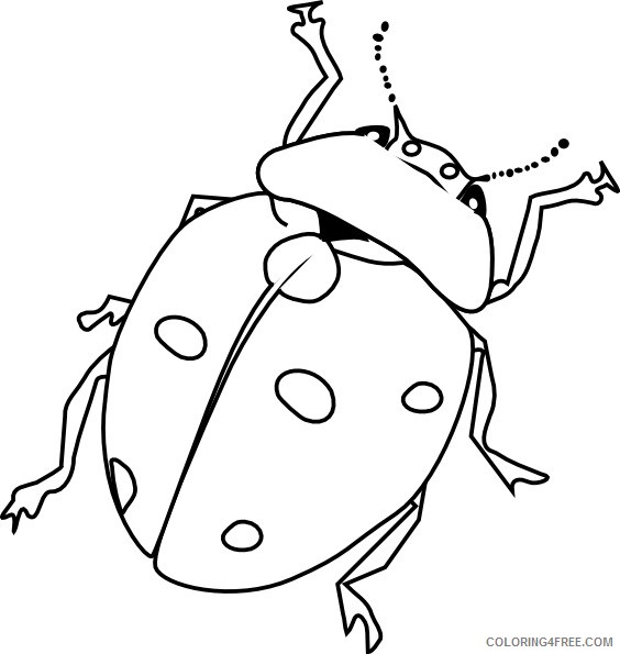 ladybug insect coloring pages Coloring4free