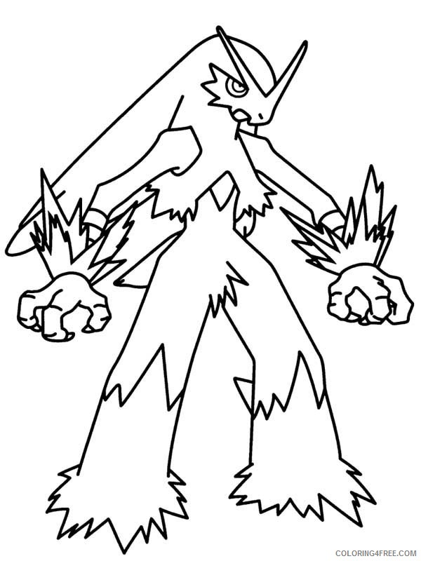 legendary pokemon coloring pages blaziken Coloring4free
