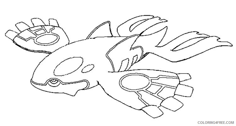 legendary pokemon coloring pages kyogre Coloring4free